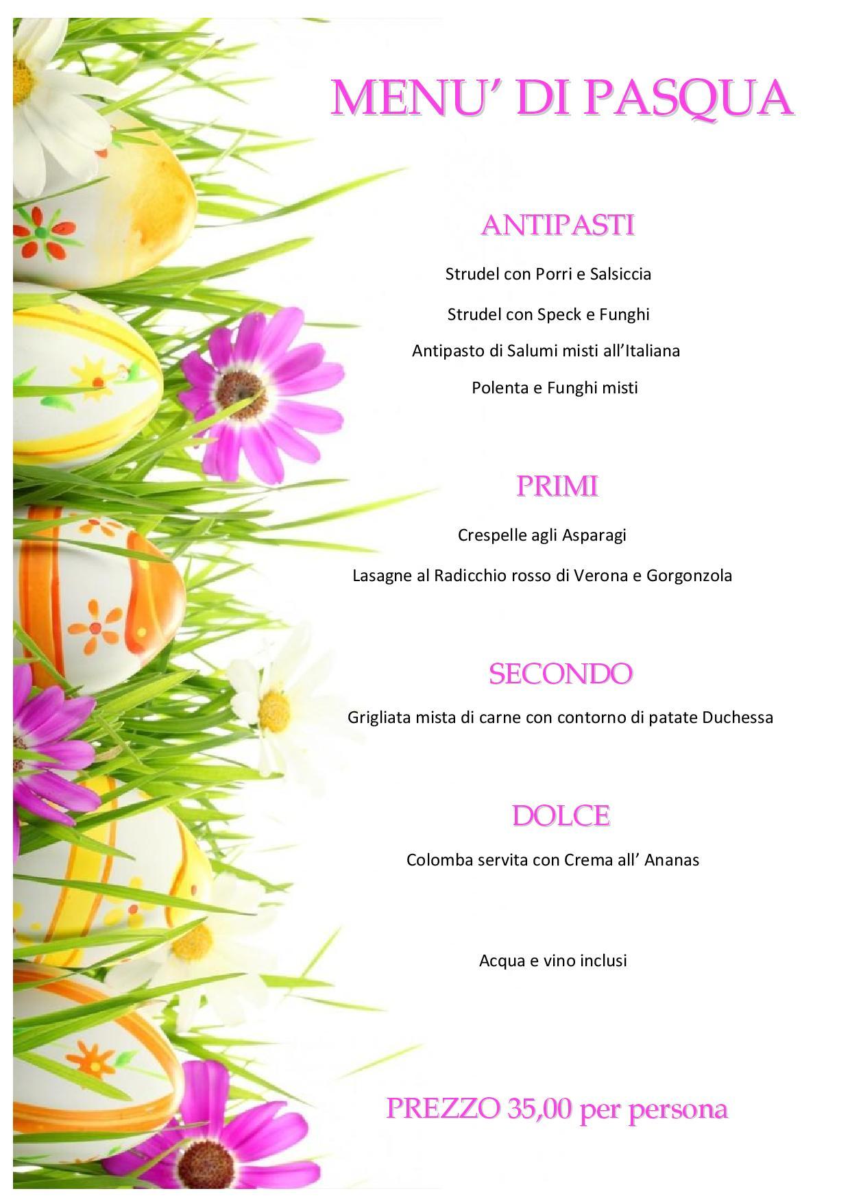 Pranzo di Pasqua alla Trattoria ai Bastioni!