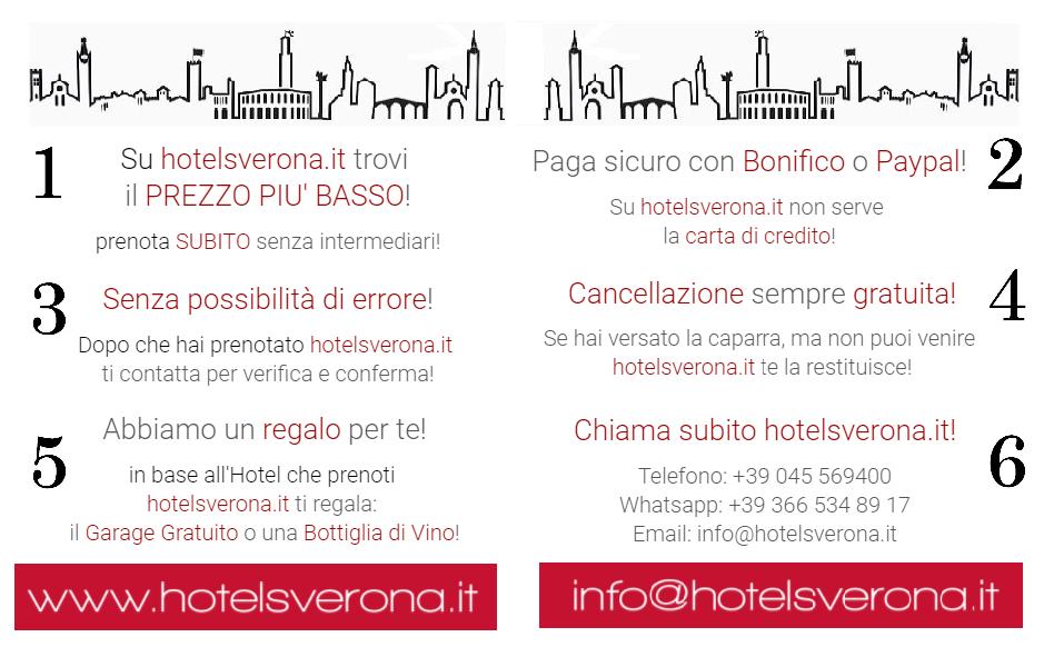 6 buoni motivi per prenotare su hotelsverona.it!