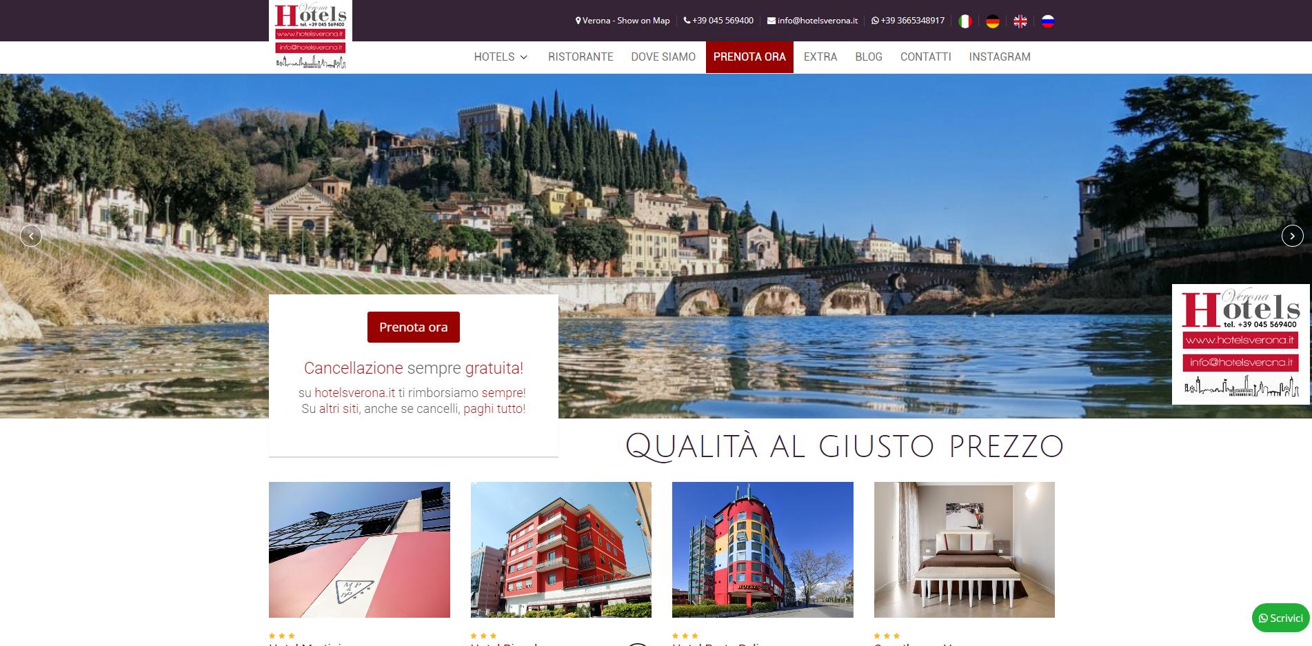 Hotelsverona: incremento prenotazioni dirette +73%!