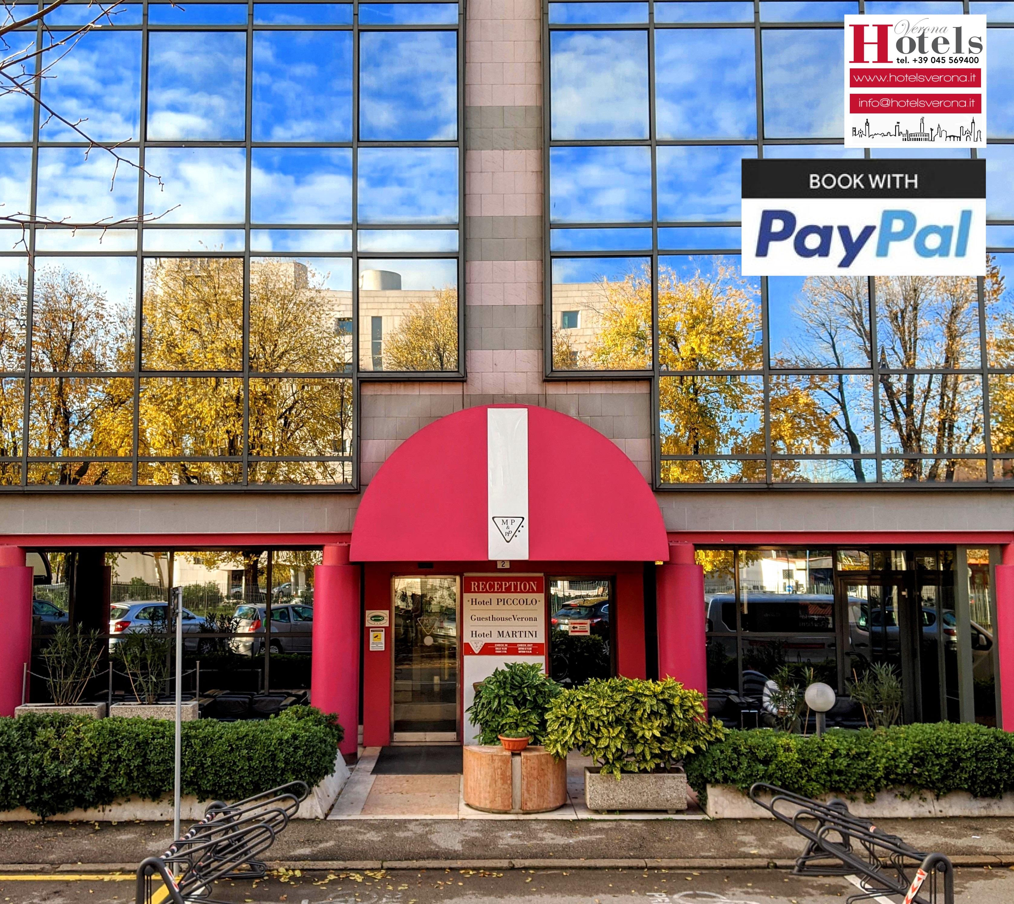 Prenota e paga HOTELSVERONA con Paypal!
