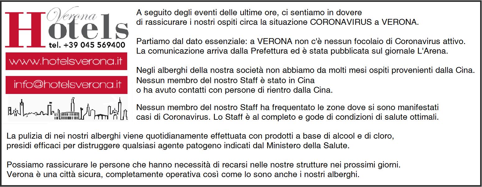 Rassicurazioni sul Coronavirus a Verona!