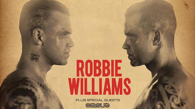 Robbie Williams il 14 Luglio: camere disponibili!