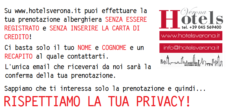Hotelsverona.it tutela la tua Privacy!